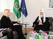 Святейший Патриарх Кирилл встретился с верховным комиссаром Совета Европы по правам человека
