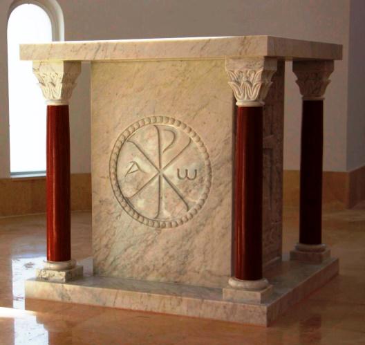 Современный мраморный престол