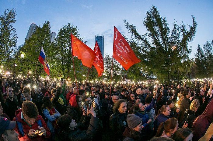 Протесты против строительства храма Святой Екатерины. Фото: Алексей Колчин/ТАСС