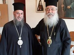 Bishop of Greek Church receives new Greek bishop of Ukrainian schismatic church