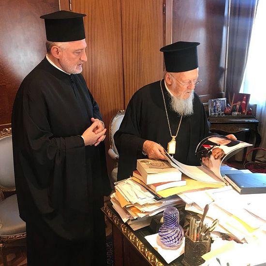 Архиепископ Элпидофор и патриарх Варфоломей