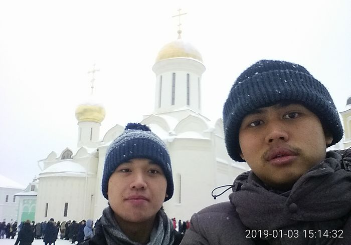 With his godfather Laurus at the Holy Trinity—St. Sergius Lavra