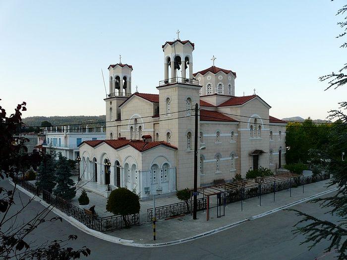 Храм прав. Иоанна Русского на острове Эвбея