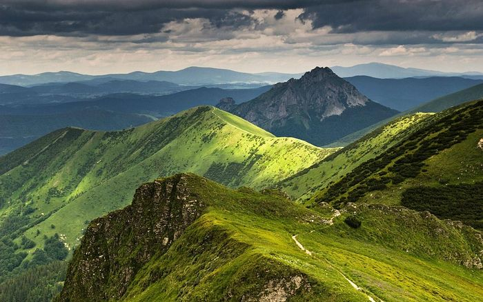 The Beskids Mountains in Poland