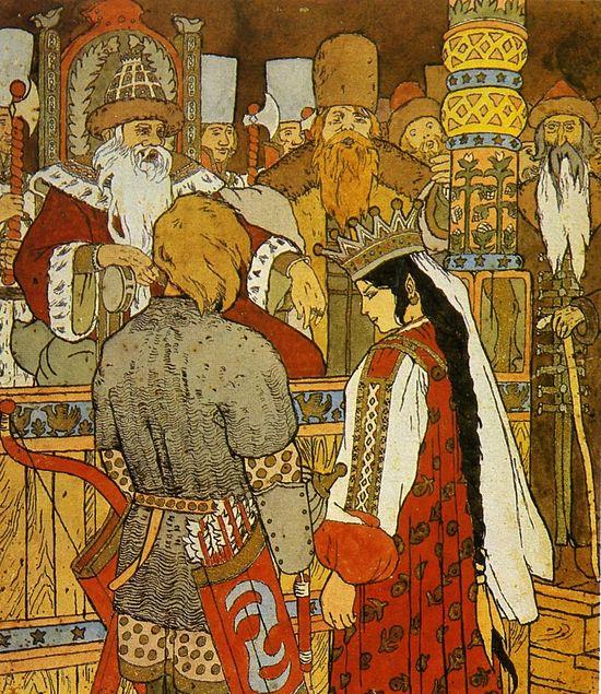 Иллюстрация к сказке «Иван-царевич и Серый волк»