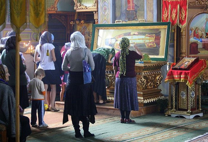 The Relics of Saint Alexy in Saint Nicholas Monastery, Iza Ukraine