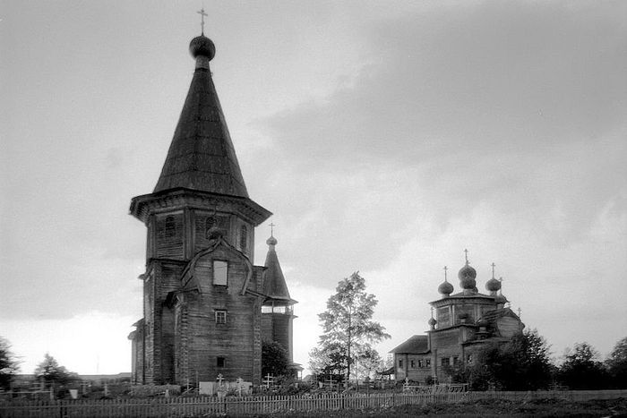 The Protection church in the village of Lyadiny, which burned down in 2013. Photo: William Brumfield.