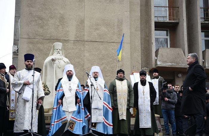 Освящение памятника Василию Липковскому в г. Черкассы, 18 января 2019 г.