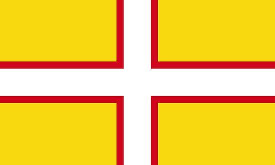 The Dorset Flag, or St. Wite's Cross.