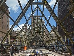 New roof being erected over NYC's St. Sava Cathedral gutted by fire in 2016