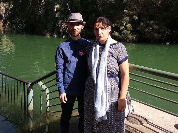 на реке Иордан