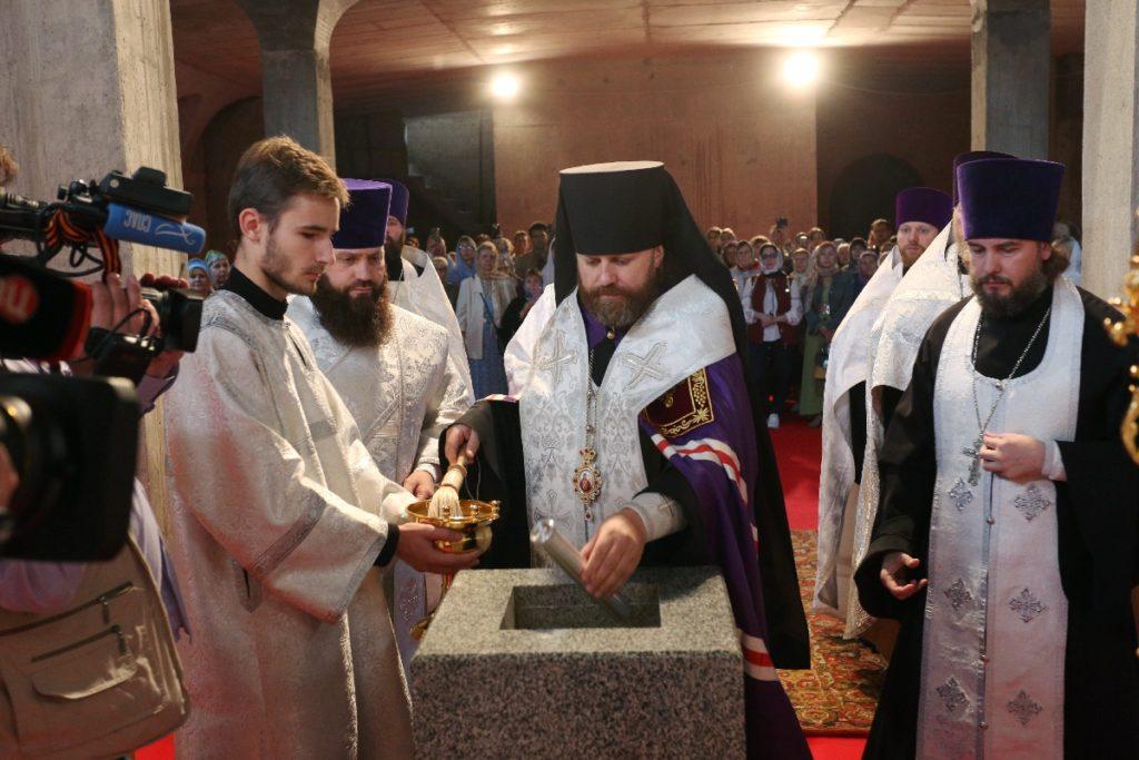 На западе Москвы заложен храм МЧС России