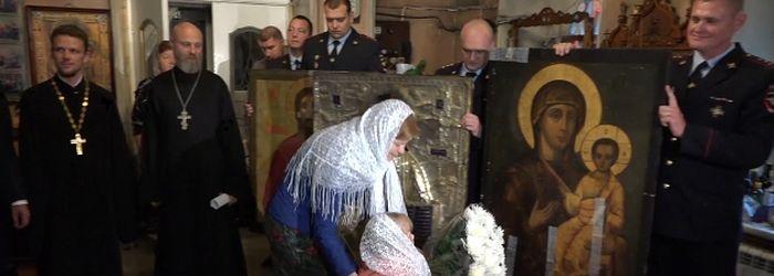Сотрудники полиции раскрыли хищение икон XIX - начала XX веков в Подмосковье