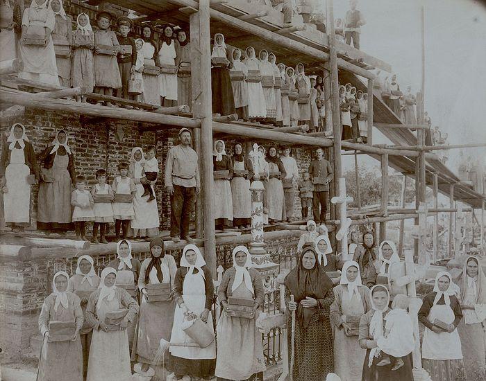 Строительство второй часовни, 1914 г.