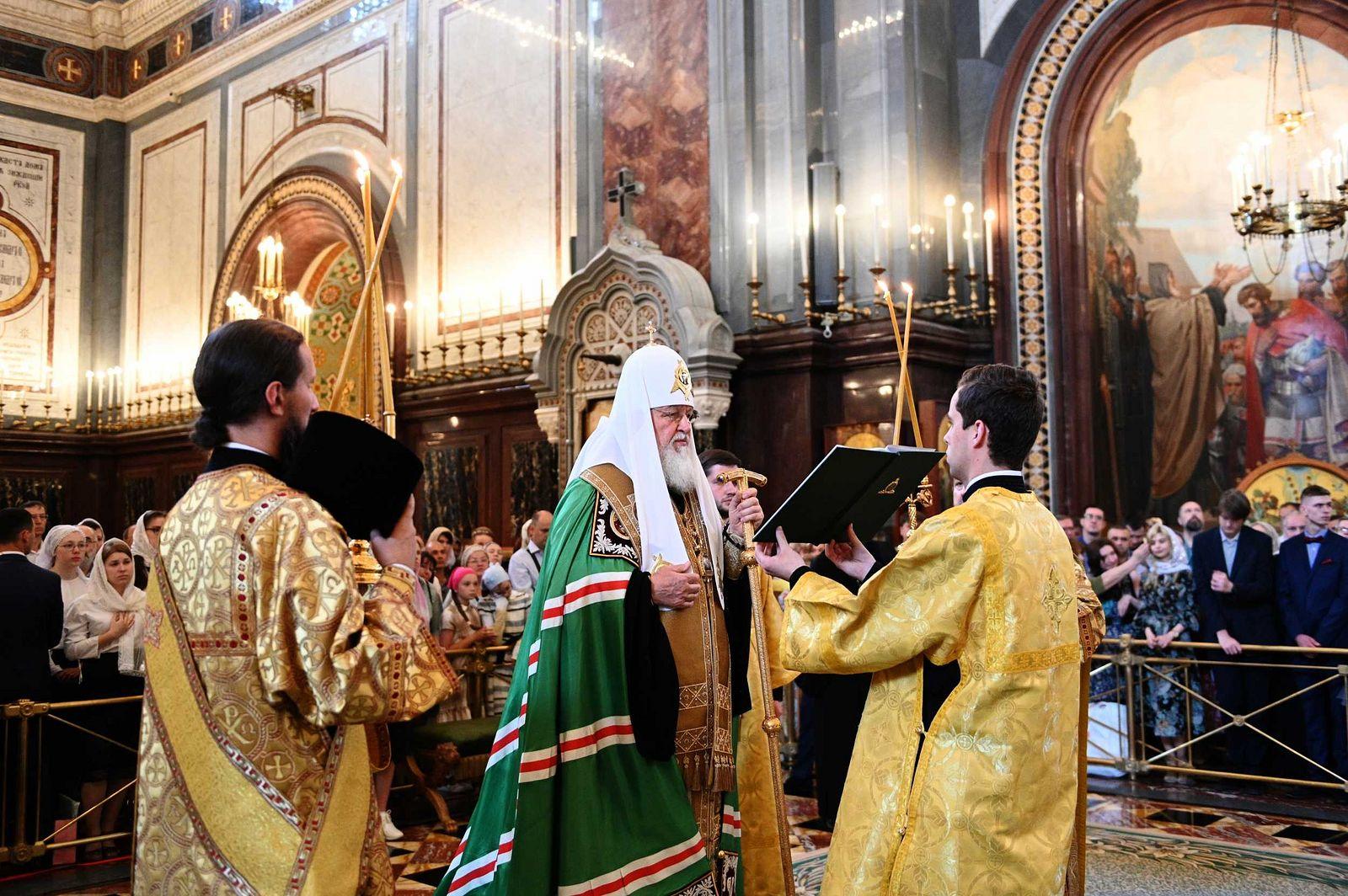 Святейший Патриарх Кирилл напутствовал выпускников православных школ и гимназий г. Москвы