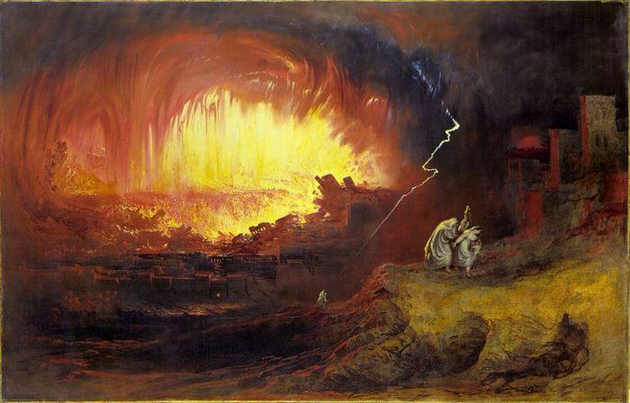 John Martin. The Destruction of Sodom And Gomorrah. 1852