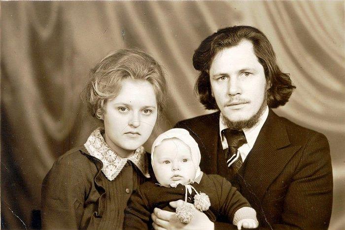 С матушкой Иоанной и сыном