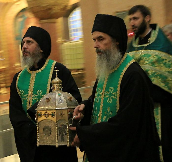 (During the visit of the venerable head of St. Silouan the Athonite to Russia