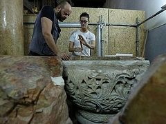 1500 year old baptismal font discovered in Bethlehem's Church of the Nativity