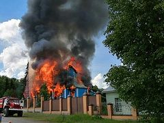 Tragic fire destroys 19th century wooden church