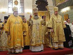 Archbishop Irénée (OCA) participates in celebrations in Ekaterinburg, Moscow