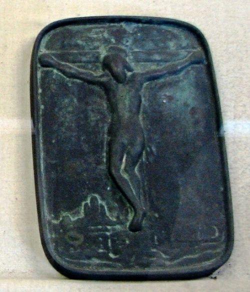 Фуми-э с изображением Распятия