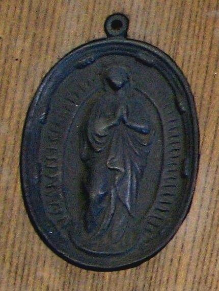 Фуми-э с изображением Девы Марии
