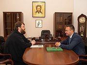 Председатель Финансово-хозяйственного управления встретился с директором ФГУП «Центральные научно-проектные реставрационные мастерские»