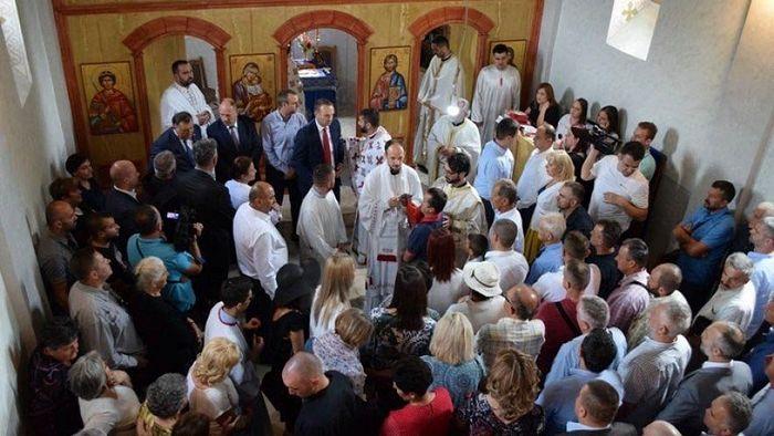Освећење Храма Светих Апостола Петра и Павла у Коњичком селу Борци