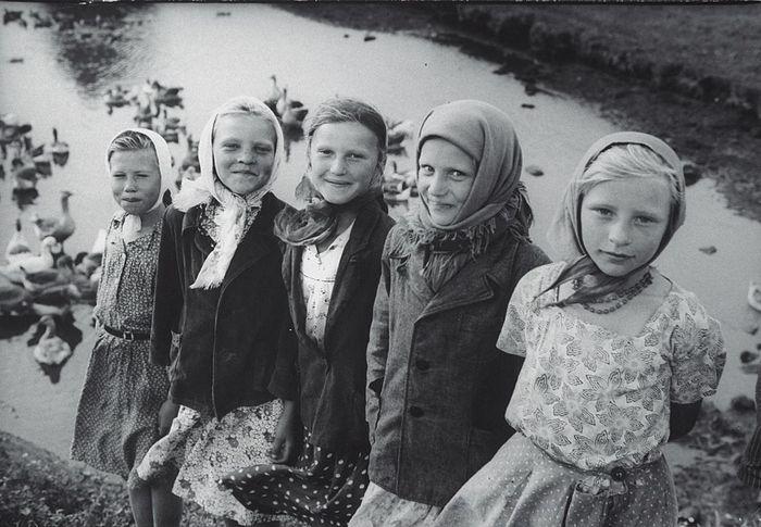 Village school students