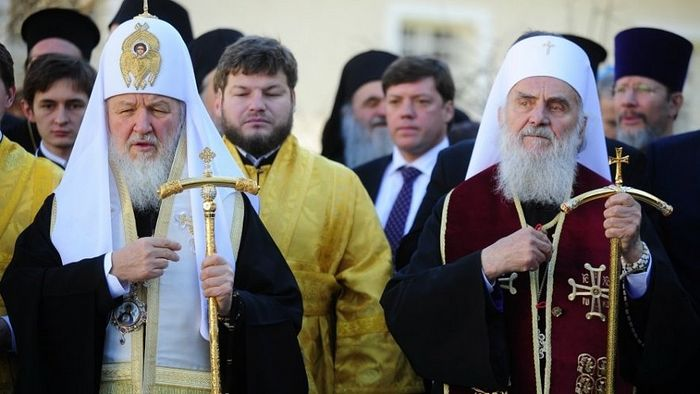 Патријарх московски и све Русије г-дин Кирил и Патријарх српски г-дин Иринеј