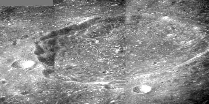 Ansgarius crater. Mosaic of three Apollo 8 images, by James Stuby. Wikipedia.