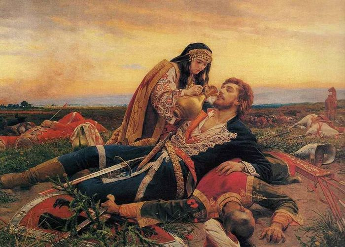 The Kosovo Maidan — An iconic Serbian painting of a woman looking for her love among the dead and wounded after the battle of Kosovo. Photo: Wikipedia