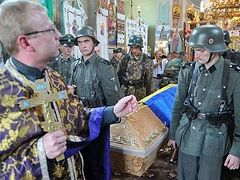 "Ukrainian schismatic ""priest,"" Uniates, consider Nazi SS Galicia fighters saints"
