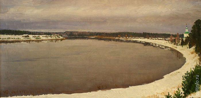 Vladimir Fedukov. Snow in Late November. 2008. Canvas, oil.