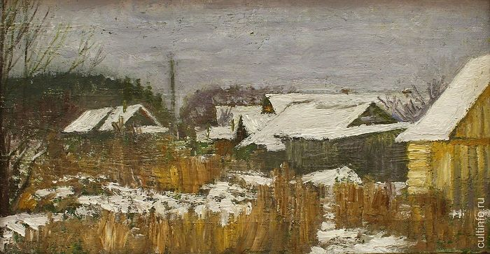 Vladimir Fedukov. The Snow Has Fallen. 2018. Canvas, oil.