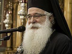 Greek bishop who released archimandrite to Ukrainian schismatics develops theological program for schismatic seminarians