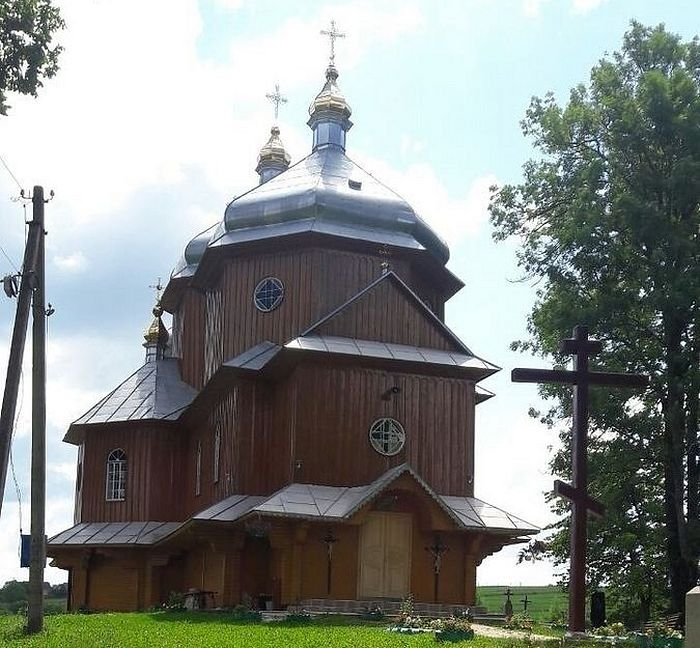 The seized Church of the Archangel Michael in Shandrovets, the Lvov region