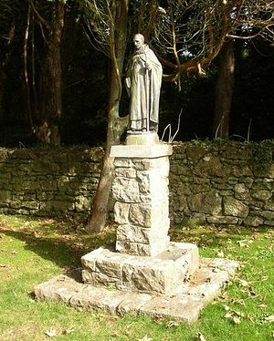 Статуя свт. Самсона на острове Калдей, Уэльс (фото_ Humphrey Bolton, Geograph.org.uk)