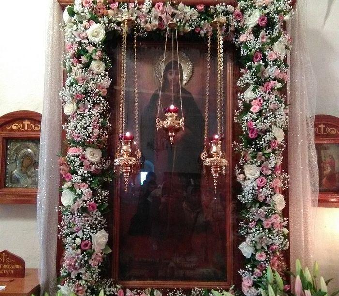 Икона Свеча Нугасимая после реставрации
