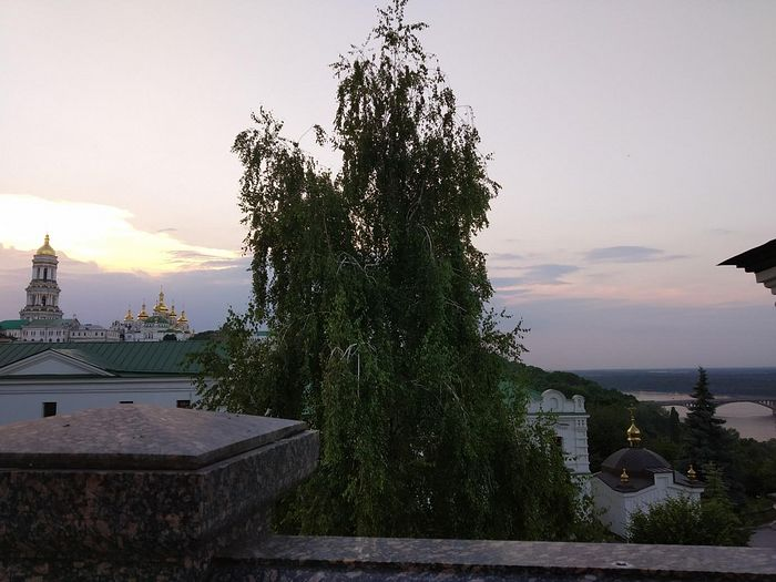 Kiev at evening time—a view towards the Upper Lavra from the Academy Church. Photo by Matfey Shaheen