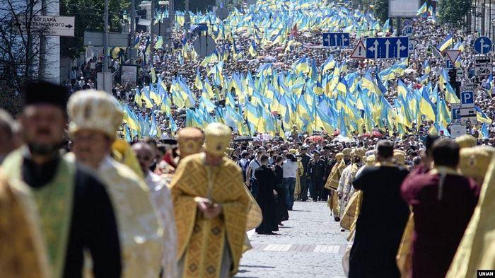 2018 Schismatic procession. Source: Unian