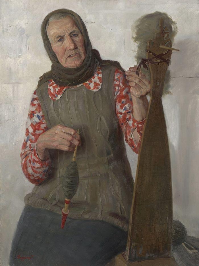 Портрет Галины Фёдоровны Липиной. 1999 год