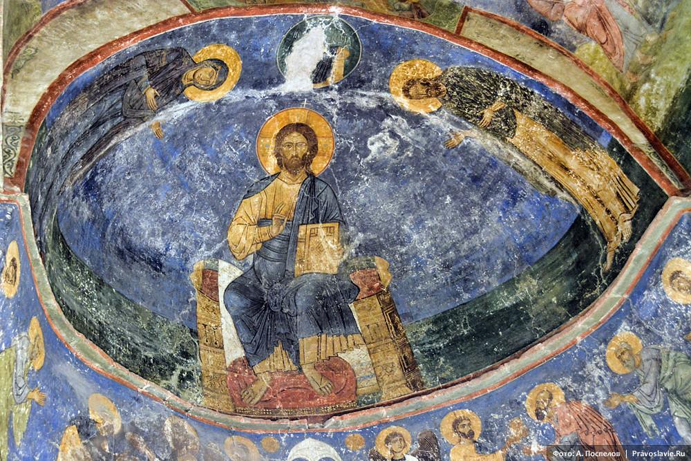 Дисис. Фреска Спасо-Преображенского собора Мирожского монастыря