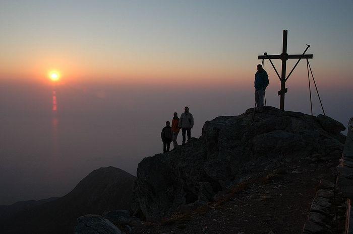 Sunrise from Mt. Athos. Photo: www.greece.com