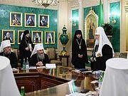 Святейший Патриарх Кирилл возглавил 60-е заседание Священного Синода со времени начала своего Первосвятительского служения