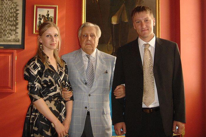Илья Глазунов и супруги Кураксы