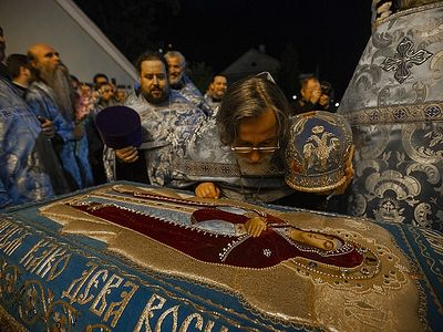 The Rite of the Burial of the Most Holy Theotokos at the Pskov Caves Monastery