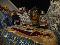 The Rite of the Burial of the Most Holy Theotokos at the Pskov Caves Monastery. Photo Report