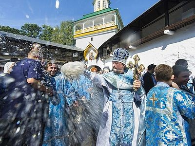 The Feast of the Dormition of the Theotokos at the Pskov Caves Monastery